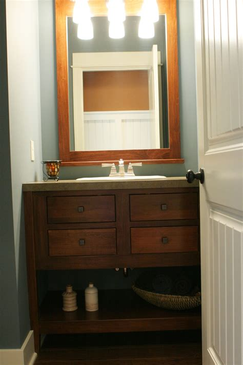 Half Bathroom Vanity Pinterest