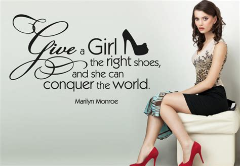 Audrey Hepburn Home Decor by Give A The Right Shoes Wall Decal Quote