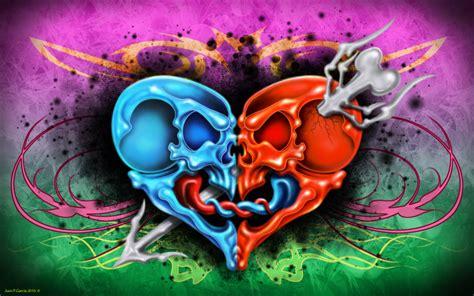 imagenes de calaveras sexis corazon calaveras by darkfussioon on deviantart