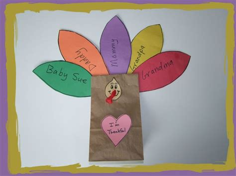 Paper Bag Turkey Craft - pin by teresa whitehead on thanksgiving