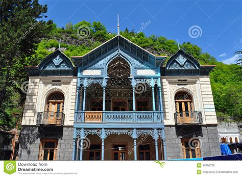 Bright House In Borjomi Georgia Stock Photo Image 48705376