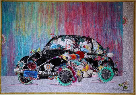 lady love bug collage paper pattern marveles art studios