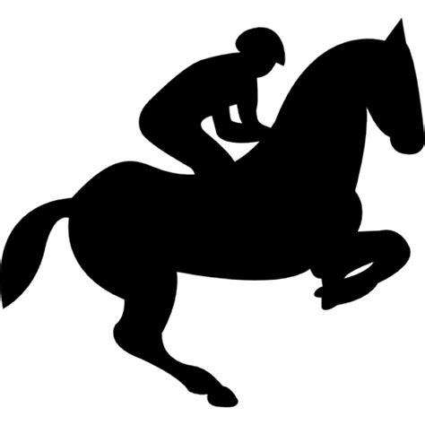 imagenes vectores de caballos caballo de salto con el jinete silueta descargar iconos