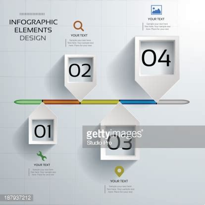 How To Make A 3d Timeline On Paper - abstract 3d paper timeline infographics design vector