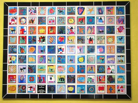 idea for tile art working mural art lesson ideas
