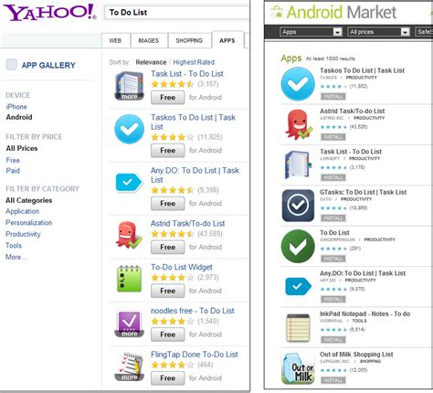 Yahoo And Search On With Yahoo S App Search Beating At Their