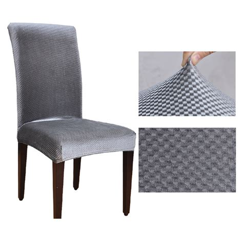 Washable Dining Chair Covers 1pcs Jacquard Spandex Stretch Dining Chair Covers Machine Washable Restaurant For Weddings