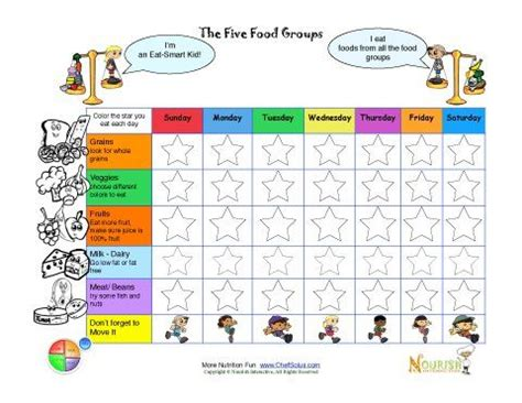interactive grocery list printable printable meal tracking sheets for kids from nourish