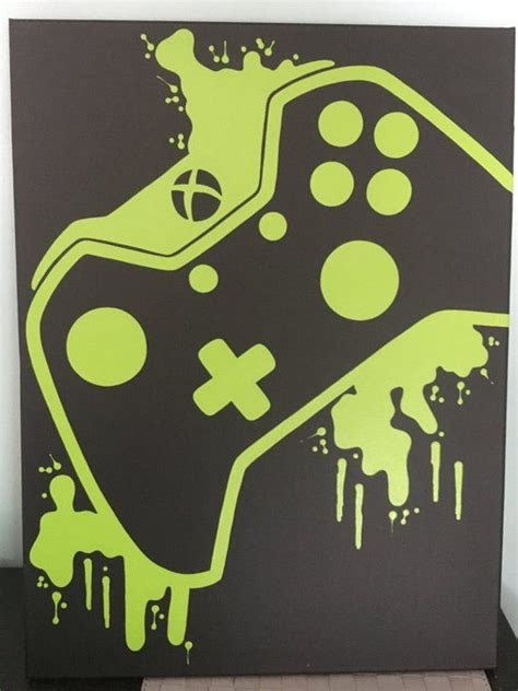 xbox  video game controller painting video game art