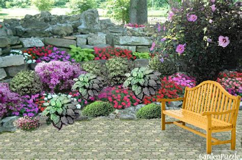 How To Make A Flower Garden Rock Garden Gardenpuzzle Garden Planning Tool