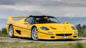 Yellow Ferraris Photoshoot Yellow F50 In Switzerland