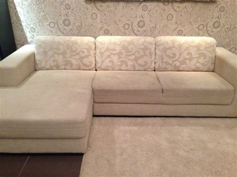 big cushions for sofas large l beige shaped sofa with patterned cushions for sale