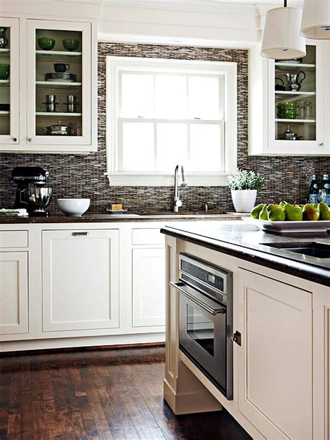 contrasting kitchen white cabinets and grey