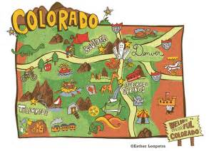 Colorado Attractions Map by Colorado Map Series Published In Denver Post On Behance