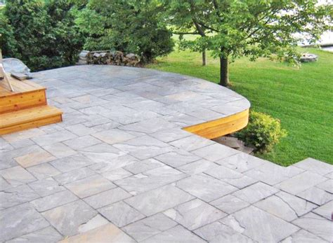 patio stone deck published may   at  x  in choosing a deck or a patio