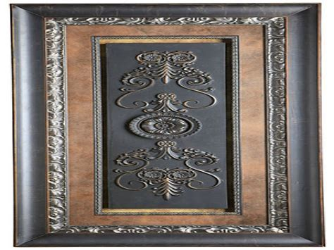 Framed wall art for dining room, black wrought iron wall