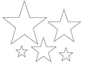 dibujos de estrellas para colorear pintar e imprimir gratis