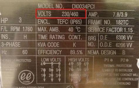 science  engineering motor nameplate meaning  details