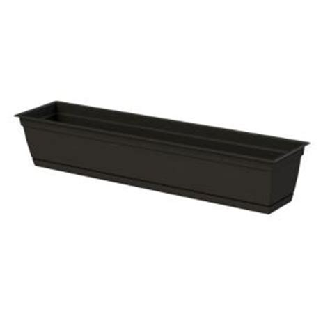 dayton 36 0 in w x 6 70 in h black plastic window box