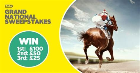 Sweepstakes Grand National - win with zuto grand national sweepstakes