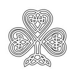 celtic coloring pages 187 celtic shamrock black white line flower coloring