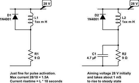 resistor in series with solenoid resistor in series with solenoid valve for voltage reduction electrical engineering stack