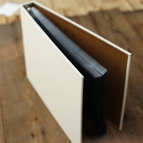 Personalised Handmade Photo Albums - hemp fabric cloth cover diy handmade album inside pages