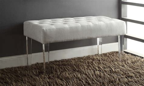 acrylic legs for bench ella acrylic leg bench groupon goods