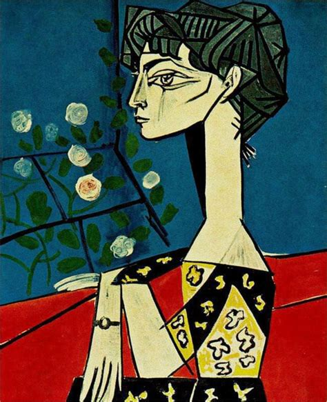 Jacqueline With Flowers 1954 By Picasso