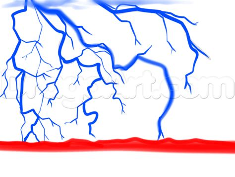 Lightening Step 3 how to draw a lightning step by step other landmarks places free drawing