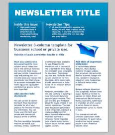Newsletter Template by Word Newsletter Template 31 Free Printable Microsoft