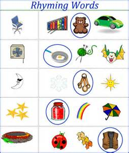 rhyming words worksheets for