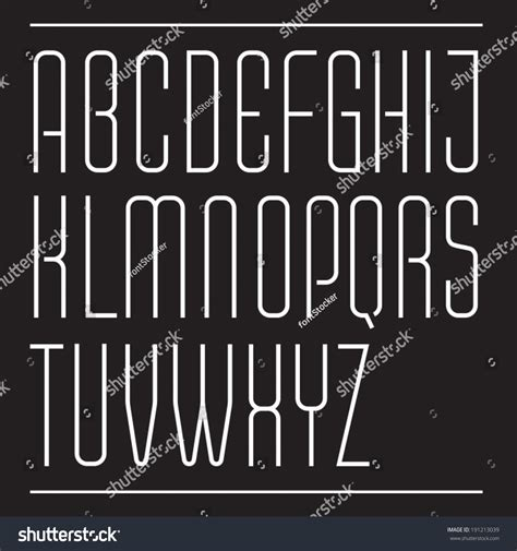 thin decorative font thin vector font ultra condensed decorative typeface