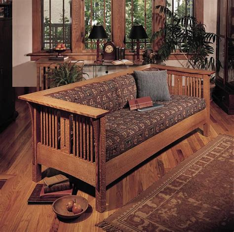 arts and crafts sofa arts and crafts mission sofa and chair woodworking plan