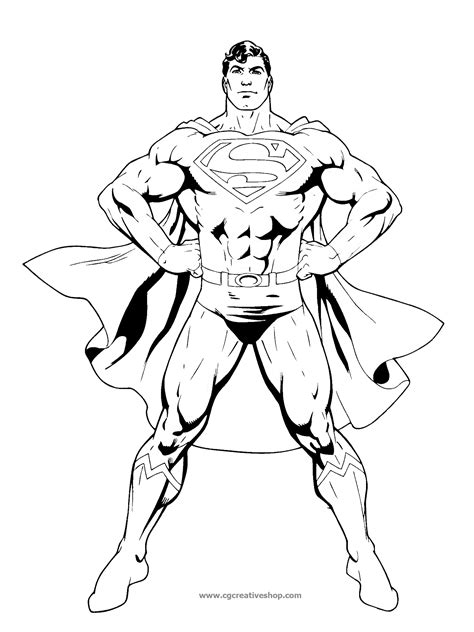 Superman Disegno Da Colorare Story Coloring Book