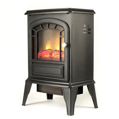 electric fireplace thermostat electric fireplace space heater stove mock wood burning