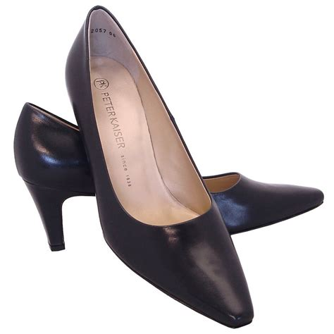 kaiser manolo leather court shoe in navy