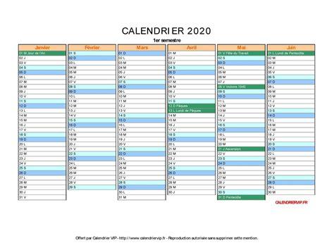 Calendrier Vierge Calendrier 2020 224 Imprimer Gratuit En Pdf Et Excel