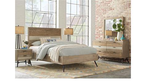 midtown loft natural cream  pc queen panel bedroom