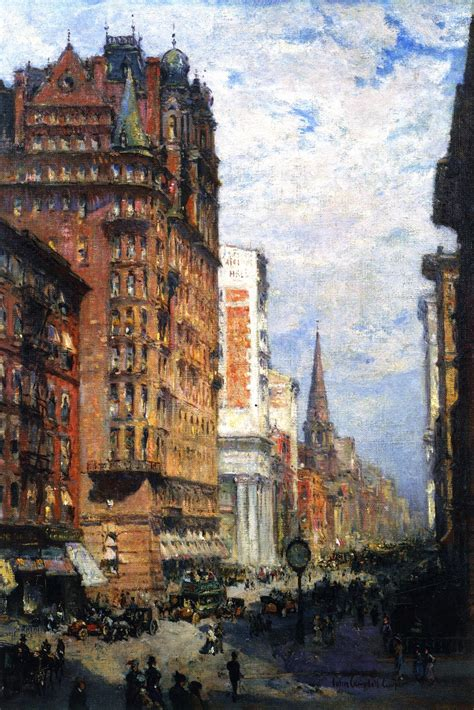 Painting In Nyc by Fifth Avenue New York City Painting Acolin Cbell
