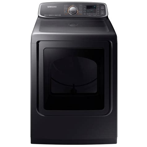 samsung dryer samsung 7 4 cu ft electric dryer with steam in black stainless steel energy dve52m7750v