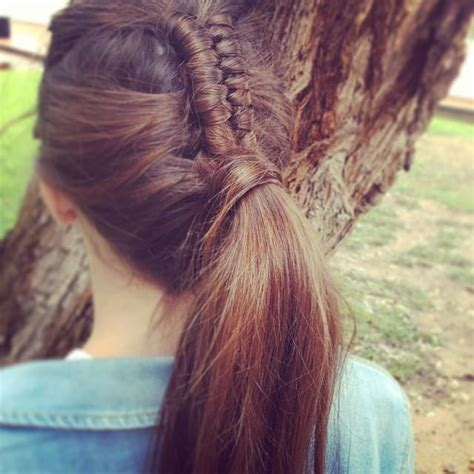 hair braided into pony braided into ponytail hairstyles how to