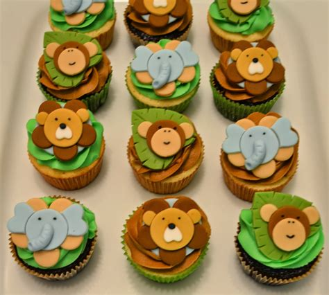 the cutest cakes by celeste jungle cupcakes for - Jungle Baby Shower Cupcakes
