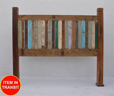 Bedhead And Frame New Recycled Reclaimed Boat Timber Wood