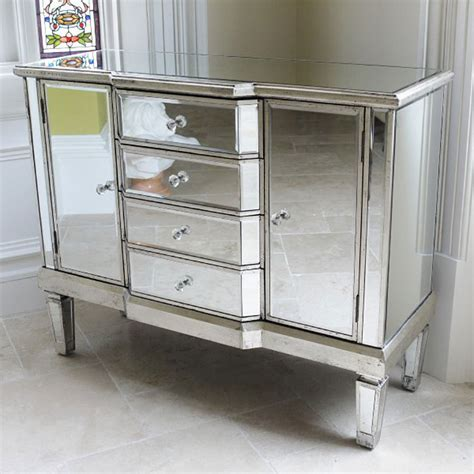 Mirrored Sideboard Uk venetian style mirrored sideboard chest of drawers uk