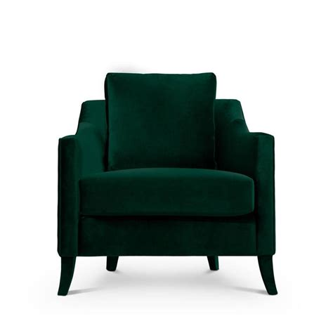 green armchair british green armchair in cotton velvet for sale at 1stdibs