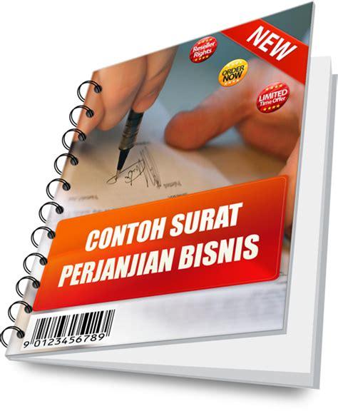 cd contoh surat perjanjian dan pernyataan dalam bisnis