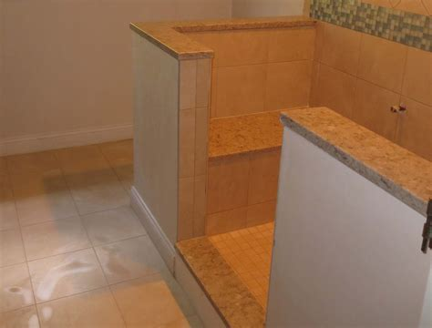 installing granite shower bench complete tile shower install part 5 installing marble