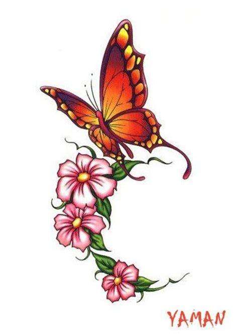 flower and butterfly tattoos butterfly and flower foot idea without the