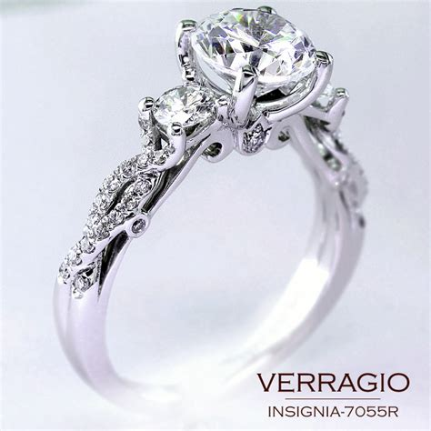 classical three engagement ring design with the